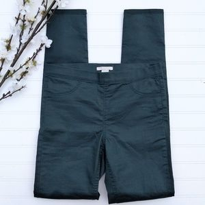 H&M green jeggings with slight sheen size 6